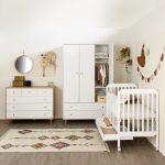 חדר תינוקות עיצוב חדר תינוקות חדר קראפט מיטת גאיה הופכת למיטת מעבר מקום למגירת אחסון ארון קראפט ושידת קראפט סגל בייבי