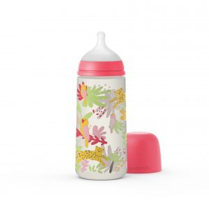 בקבוק לתינוק סגל בייבי 360 מל JUNGLE פיז' חדש - ורוד 307091