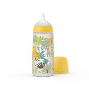 בקבוק לתינוק 360 מל JUNGLE פיז' חדש - צהוב 307092
